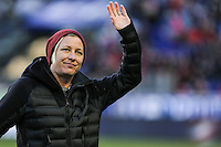 HARRISON, NJ, 04.03.2017 - ESTADOS UNIDOS-INGLATERRA - ex jogadora Abby Wambach é vista antes de partida entre Estados Unidos e Inglaterra jogo valido pela segunda rodada da SheBelieves Cup no Red Bull Arena na cidade de Harrison nos Estados Unidos neste sábado , 04. (Foto: Vanessa Carvalho/Brazil Photo Press)
