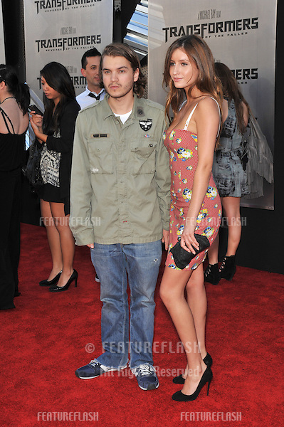 "Emile Hirsch & date at the Los Angeles premiere of ""Transformers: Revenge of the Fallen"" at the Mann Village Theatre, Westwood..June 22, 2009  Los Angeles, CA.Picture: Paul Smith / Featureflash"