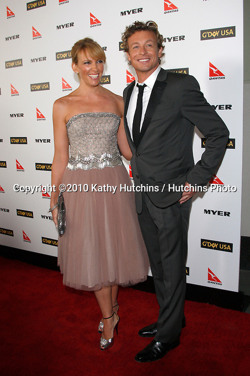 Toni Collette & Simon Baker.arriving at the G'Day USA 2010 Los Angeles Black Tie Gala.Hollywood & Highland.Los Angeles, CA.January 16, 2010.©2010 Kathy Hutchins / Hutchins Photo....