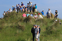 Part of the crowd at the 16th during Round 4 of the East of Ireland Amateur Open Championship 2018 at Co. Louth Golf Club, Baltray, Co. Louth on Monday 4th June 2018.<br /> Picture:  Thos Caffrey / Golffile<br /> <br /> All photo usage must carry mandatory copyright credit (&copy; Golffile | Thos Caffrey)