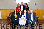 The christening of baby Katie Loughnane from Caherslee Tralee.<br /> Front l-r, Ella Canty (Godmother) Gillian, bay Katie and Liam and Willie Loughnane (Godfather and Grandfather).<br /> Back l-r, Mary and Tim O'Brien and Martha Loughnane.