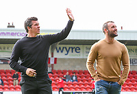 Fleetwood Town manager Joey Barton waves to someone in the stand before the match<br /> <br /> Photographer Alex Dodd/CameraSport<br /> <br /> The EFL Sky Bet League One - Fleetwood Town v Accrington Stanley - Saturday 15th September 2018  - Highbury Stadium - Fleetwood<br /> <br /> World Copyright &copy; 2018 CameraSport. All rights reserved. 43 Linden Ave. Countesthorpe. Leicester. England. LE8 5PG - Tel: +44 (0) 116 277 4147 - admin@camerasport.com - www.camerasport.com