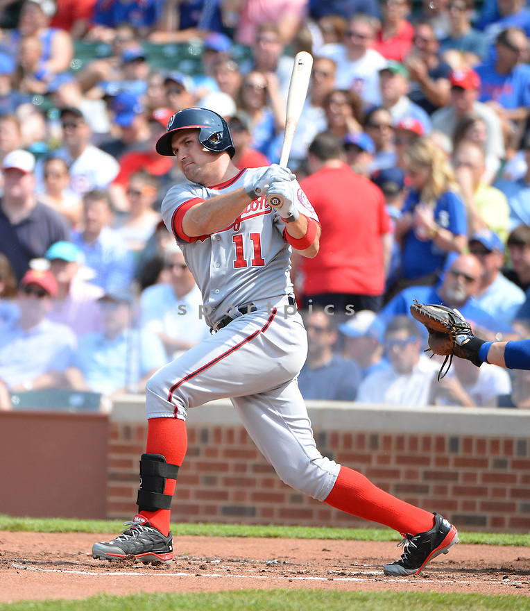 Washington Nationals Ryan Zimmerman (11) during a game against the Chicago Cubs on June 27, 2014 at Wrigley Field in Chicago, IL. The Cubs beat the Nationals 7-2.