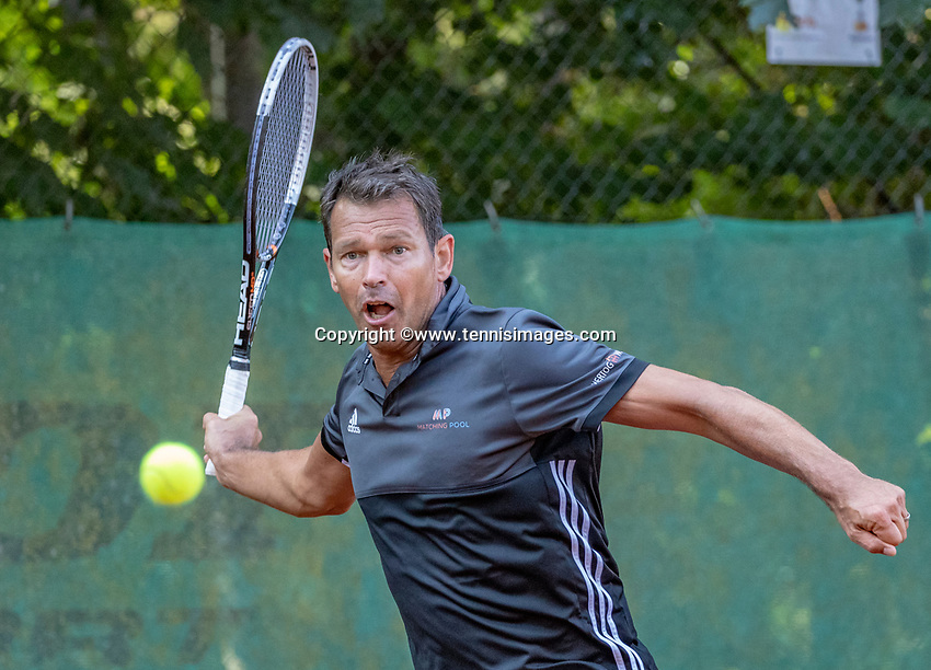 Hilversum, The Netherlands, September 2, 2018,  Tulip Tennis Center, NKS, National Championships Seniors, Men's 50+ final: Niels de Kok (NED)<br />