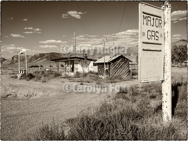 Abandoned gas station along US-93-50, East Ely, Nev.