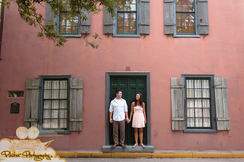 Kristin Ritter an Matthew Horwath on Friday, September 17, 2010 during their engagement session in the historic district of Saint Augustine, Florida. (Chad Pilster, PilsterPhotography.net)