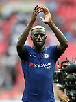 Chelsea's Tiemoue Bakayoko celebrates at the final whistle during the premier league match at the Wembley Stadium, London. Picture date 20th August 2017. Picture credit should read: David Klein/Sportimage