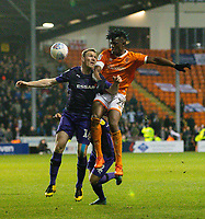Blackpool's Armand Gnanduillet battles with Tranmere Rovers' Mark Ellis<br /> <br /> Photographer Alex Dodd/CameraSport<br /> <br /> The EFL Sky Bet League One - Blackpool v Tranmere Rovers - Tuesday 10th March 2020 - Bloomfield Road - Blackpool<br /> <br /> World Copyright © 2020 CameraSport. All rights reserved. 43 Linden Ave. Countesthorpe. Leicester. England. LE8 5PG - Tel: +44 (0) 116 277 4147 - admin@camerasport.com - www.camerasport.com