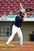 Cedar Rapids Kernels shortstop Ryan Walker (26) at bat during a game against the Quad Cities River Bandits on August 18, 2014 at Perfect Game Field at Veterans Memorial Stadium in Cedar Rapids, Iowa.  Cedar Rapids defeated Quad Cities 4-2.  (Mike Janes/Four Seam Images)