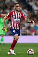 Saul Niguez of Atletico Madrid during the match between Real Madrid v Atletico Madrid of LaLiga, date 7, 2018-2019 season. Santiago Bernabéu Stadium. Madrid, Spain - 29 SEP 2018.