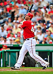24 May 2009: Washington Nationals' first baseman Adam Dunn hits a two-run homer against the Baltimore Orioles at Nationals Park in Washington, DC. Dunn hit two home runs for the day including a Grand Slam as the Nationals rallied to defeat the Orioles 8-5 and salvage one win of their interleague series. Mandatory Credit: Ed Wolfstein Photo