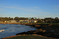 A general view from the 18th tee during the first round of the AT&amp;T Pro-Am, Pebble Beach Golf Links, Monterey, California, USA. 07/02/2019<br /> Picture: Golffile | Phil Inglis<br /> <br /> <br /> All photo usage must carry mandatory copyright credit (&copy; Golffile | Phil Inglis)