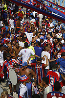 SANTA MARTA – COLOMBIA, 05-05-2019: Hinchas de Unión animan a su equipo durante el partido por la fecha 20 de la Liga Águila I 2019 entre Unión Magdalena y Once Caldas jugado en el estadio Sierra Nevada de la ciudad de Santa Marta. / Fans of Union cheer for their team during match for the date 20 as part Aguila League I 2019 between Union Magdalena and Once Caldas played at Sierra Nevada stadium in Santa Marta city. Photos: VizzorImage / Gustavo Pacheco / Cont