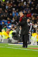 Sevilla's coach Unai Emery during 2014-15 La Liga match between Real Madrid and Sevilla at Santiago Bernabeu stadium in Alcorcon, Madrid, Spain. February 04, 2015. (ALTERPHOTOS/Luis Fernandez) /NORTEphoto.com