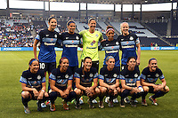 Kansas City, Kansas - Saturday April 16, 2016: FC Kansas City starters pose for a photo before the game against Western New York Flash at Children's Mercy Park. Western New York won 1-0.