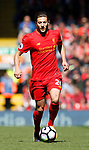 Adam Lallana of Liverpool during the English Premier League match at Anfield Stadium, Liverpool. Picture date: May 7th 2017. Pic credit should read: Simon Bellis/Sportimage