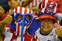 BARRANQUILLA - COLOMBIA ,08-06-2019: Hinchas del Atlético Junior ante el  Deportivo Pasto  durante el primer partido de la final de la Liga Águila I 2019 jugado en el estadio Metropolitano Roberto Meléndez de la ciudad de Barranquilla . /Fans of Atletico Junior during match agaisnt of Deportivo Pasto during the first game of the Liga Águila I 2019 final played at the Metropolitan Stadium Roberto Meléndez of the city of Barranquilla . Photo: VizzorImage / Alfonso Cervantes / Contribuidor.