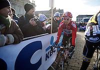 Sean De Bie (BEL/Lotto-Belisol) to the start<br /> <br /> Omloop Het Nieuwsblad 2015