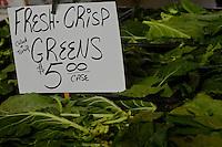 fresh crisp greens