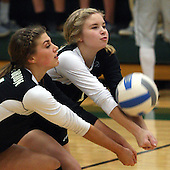 Clarkston at Lake Orion, Varsity Volleyball, 10/15/13