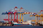 Europa, DEU, Deutschland, Bremen, Bremerhaven, Hafen, Container-Terminal Bremerhaven, Stadtbremisches Ueberseehafengebiet Bremerhaven, Der Container-Terminal Bremerhaven in Bremerhaven ist Teil der Hafengruppe Bremen/Bremerhaven. Er gehoert zu den groeßten Containerhaefen der Welt.  Bremerhaven ist mit dem Ueberseehafengebiet auch eine der groeßten europaeischen Hafenstaedte und ein wichtiges Exportzentrum Deutschlands, Kategorien und Themen, Industrie, Wirtschaft, Technik, Technologie, Aerbeit, Job, Jobs, Aerbeitswelt, Aerbeiten....[Fuer die Nutzung gelten die jeweils gueltigen Allgemeinen Liefer-und Geschaeftsbedingungen. Nutzung nur gegen Verwendungsmeldung und Nachweis. Download der AGB unter http://www.image-box.com oder werden auf Anfrage zugesendet. Freigabe ist vorher erforderlich. Jede Nutzung des Fotos ist honorarpflichtig gemaess derzeit gueltiger MFM Liste - Kontakt, Uwe Schmid-Fotografie, Duisburg, Tel. (+49).2065.677997, archiv@image-box.com, www.image-box.com]