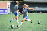 Allston, MA - Sunday July 17, 2016: Stephanie Verdoia prior to a regular season National Women's Soccer League (NWSL) match between the Boston Breakers and Sky Blue FC at Jordan Field.
