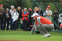 Danny Willett  (ENG) on the 5th during the final day of the Omega European Masters, Crans-Sur-Sierre, Crans Montana, Switzerland.4/9/11.Picture: Golffile/Fran Caffrey..