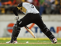NZ's Ross Taylor stops the ball dead at his feet during 2nd Twenty20 cricket match match between New Zealand Black Caps and West Indies at Westpac Stadium, Wellington, New Zealand on Friday, 27 February 2009. Photo: Dave Lintott / lintottphoto.co.nz