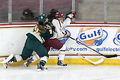 Megan Dalbec (UVM - 25), Kristyn Capizzano (BC - 7) - The Boston College Eagles defeated the visiting University of Vermont Catamounts 2-0 on Saturday, January 18, 2014, at Kelley Rink in Conte Forum in Chestnut Hill, Massachusetts.