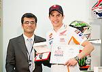 doha. qatar. 22.03.2014. qatar grand prix. press cpnference with marc marquez. alex rins. tito rabat. alvaro bautista and stefan bradl