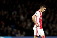 5th November 2019; Stamford Bridge, London, England; UEFA Champions League Football, Chelsea Football Club versus Ajax; A dejected Dušan Tadic of Ajax - Editorial Use