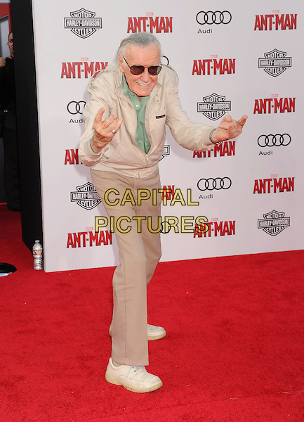 HOLLYWOOD, CA - JUNE 29: Executive producer Stan Lee arrives at the Los Angeles Premiere of Marvel Studios 'Ant-Man' at Dolby Theatre on June 29, 2015 in Hollywood, California.<br /> CAP/ROT/TM<br /> &copy;TM/ROT/Capital Pictures
