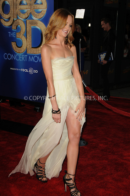WWW.ACEPIXS.COM . . . . . ....Augsut 6 2011, LA....Jayma Mays arriving at the Premiere of 'Glee The 3D Concert Movie' at the Regency Village Theater on August 6, 2011 in Westwood, California.....Please byline: PETER WEST - ACE PICTURES.... *** ***..Ace Pictures, Inc:  ..Philip Vaughan (212) 243-8787 or (646) 679 0430..e-mail: info@acepixs.com..web: http://www.acepixs.com