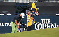 Andy Sullivan (ENG) completes Round One of the 145th Open Championship, played at Royal Troon Golf Club, Troon, Scotland. 14/07/2016. Picture: David Lloyd | Golffile.<br /> <br /> All photos usage must carry mandatory copyright credit (&copy; Golffile | David Lloyd)