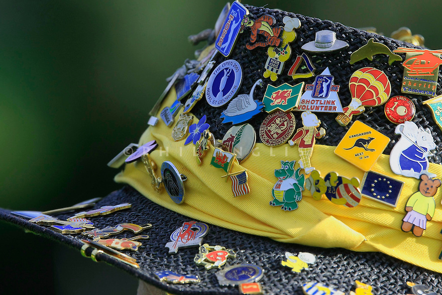 A marshall's Hat during the 2008 Volvo Masters, Valderrama GC, Cadiz, Spain.