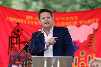 Pictured: Labour AM for Blaenau Gwent, Alun Davies. Sunday 01 July 2018<br /> Re: Labour Party leader Jeremy Corbyn at the celebration for the 70 years since the National Health Service (NHS) was founded by Aneurin Bevan, Bedwellty Park, Tredegar, Wales, UK.