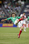 June 08 2008:  Andres Guardado (Deportivo la Coruna / SPA) (18) of Mexico.  During the third and final match of Mexico's 2008 USA Tour in preparation for qualification for FIFA's 2010 World Cup, the national soccer team of Mexico defeated Peru 4-0 at Soldier Field, in Chicago, IL.