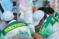 SAO PAULO, SP, 12 FEVEREIRO 2013 - CARNAVAL SP - MANCHA VERDE REBAIXADA -  Presidentes e diretores da ..Mancha Verde durante apuração do Carnaval Paulista 2013 - Grupo Especial realizado no Sambódromo do Anhembi na região norte da capital paulista, nesta terça, 12. A agremiação foi rebaixada para o grupo de acesso de 2014...FOTO: LEVI BIANCO - BRAZIL PHOTO PRESS