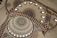 Sehzade (Princes) Mosque in Zeyrek, Istanbul, Turkey: interior of the domes