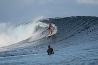 Namotu Island Resort, Nadi, Fiji (Wednesday, June 6th  2018):   -<br /> The South swell continued to roll in this morning with chest to head high sets at Cloudbreak. There were South East Trade wins early before it switched to light and variable mid morning.  Wilkes, Cloudbreak and Namotu Lefts all had good waves around the tides. <br /> Photo: joliphotos.com