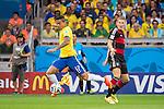 Luiz Gustavo (BRA), Bastian Schweinsteiger (GER), JULY 8, 2014 - Football / Soccer : FIFA World Cup Brazil 2014 Semi Final match between Brazil 1-7 Germany at Estadio Mineirao in Belo Horizonte, Brazil. (Photo by Maurizio Borsari/AFLO)