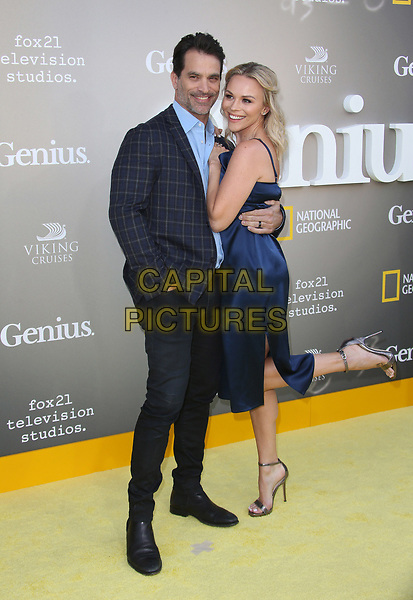 WESTWOOD, CA - April 24: Johnathon Schaech, Julie Solomon, At National Geographic's Premiere Screening of &quot;Genius&quot; At The Fox Theater, Westwood Village In California on April 24, 2017. <br /> CAP/MPI/FS<br /> &copy;FS/MPI/Capital Pictures