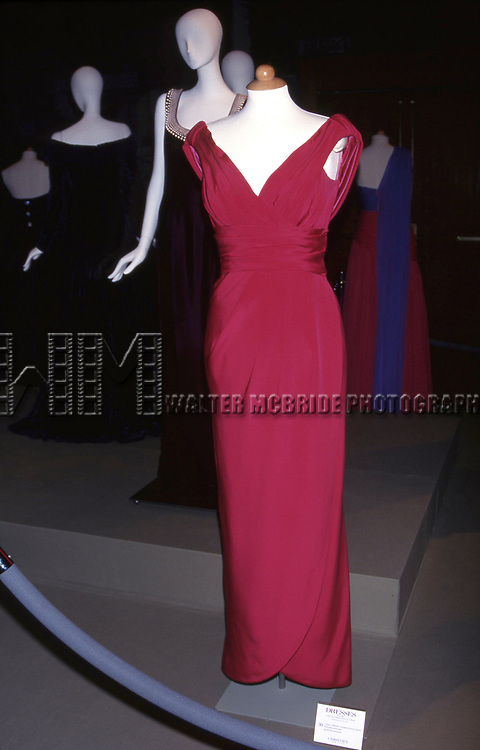 Designer Victor Edelstein - Collection of Princess Diana 'Dresses' Auction to Benefit the Royal Marsden Hospital Cancer Fund and Aids Crisis on June 18, 1997 at Christies in New York City.
