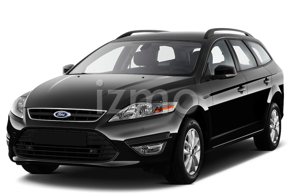Front three quarter view of 2011 Ford Mondeo Trend Wagon Stock Photo