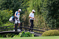 Dustin Johnson (USA) crosses the bridge on the 8th fairway during the 2nd round at the WGC HSBC Champions 2018, Sheshan Golf CLub, Shanghai, China. 26/10/2018.<br /> Picture Fran Caffrey / Golffile.ie<br /> <br /> All photo usage must carry mandatory copyright credit (&copy; Golffile | Fran Caffrey)