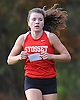 Reilly Siebert of Syosset legs out a first place finish in the Nassau County Class I varsity girls cross country championship at Bethpage State Park on Saturday, Oct. 29, 2016.