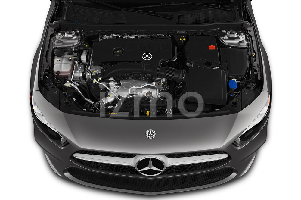 Car Stock 2019 Mercedes Benz A-Class-Sedan A-220 4 Door Sedan Engine  high angle detail view