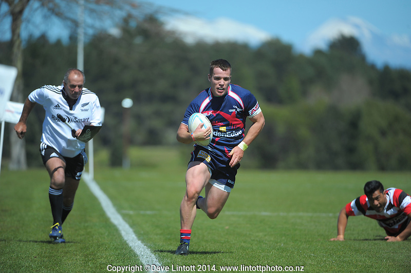 Action from the Under-19 provincial match match between Counties Manukau and Tasman at Owen Delaney Park, Taupo, New Zealand on Wednesday, 1 October 2014. Photo: Dave Lintott / lintottphoto.co.nz