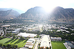 1309-22 0096<br /> <br /> 1309-22 BYU Campus Aerials<br /> <br /> West looking East, Provo, Sunrise, Smith Fieldhouse SFH, Richards Building RB, Richards Buildings Fields RBF, Student Athlete Building SAB, <br /> <br /> September 6, 2013<br /> <br /> Photo by Jaren Wilkey/BYU<br /> <br /> &copy; BYU PHOTO 2013<br /> All Rights Reserved<br /> photo@byu.edu  (801)422-7322
