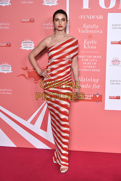 Tali Lennox <br /> arrivals at London's Fabulous Fund Fair 2016 in aid of the Naked Heart Foundation at Old Billingsgate Market on 20th February 2016.<br /> CAP/PL<br /> &copy;Phil Loftus/Capital Pictures